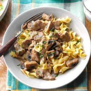 Beef Burgundy Over Noodles