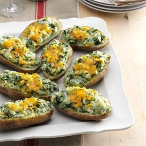 Cheddar & Spinach Twice-Baked Potatoes