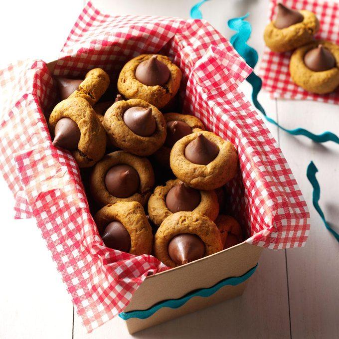 Pumpkin-Gingerbread Thumbprint Cookies