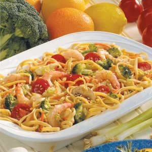 Shrimp Linguine Salad