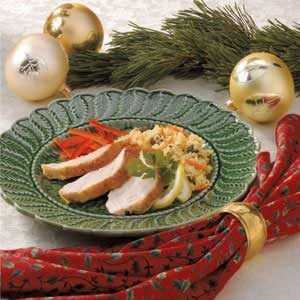 Lemon Turkey with Couscous Stuffing