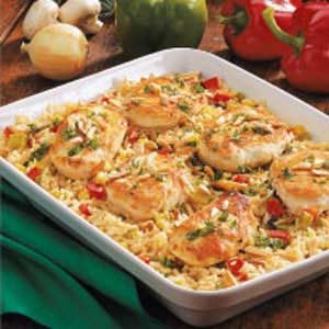 Chicken Rice Casserole with Veggies