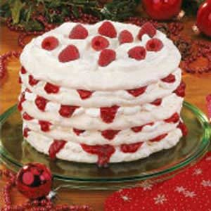 Raspberry-Filled Meringue Torte