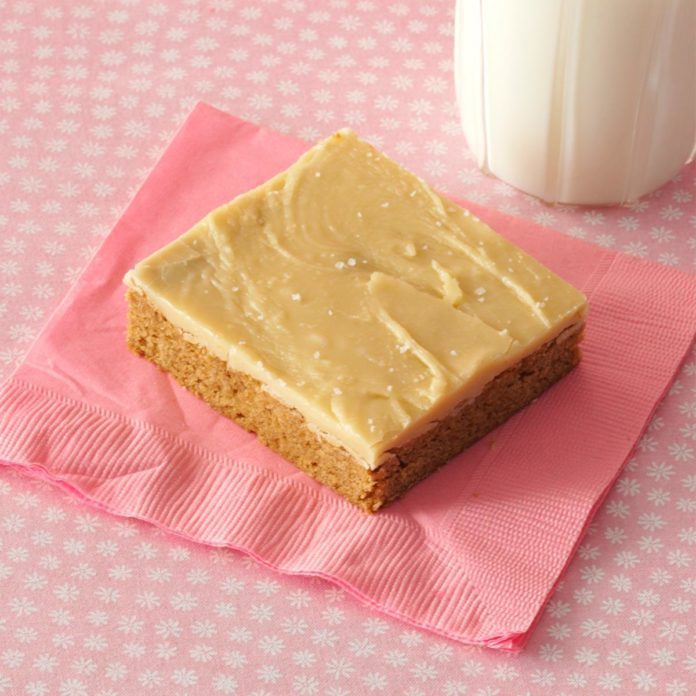 Spice Cake Bars with Salted Caramel Icing