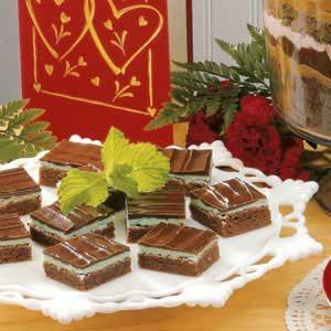 Glazed Mint Brownies