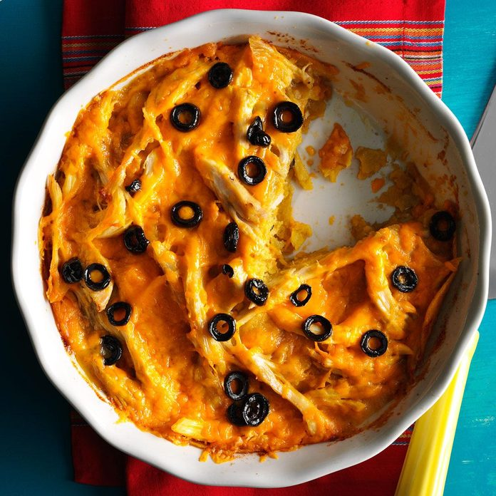 Chicken & Cheese Tortilla Pie