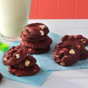 Red Velvet White Chip Cookies