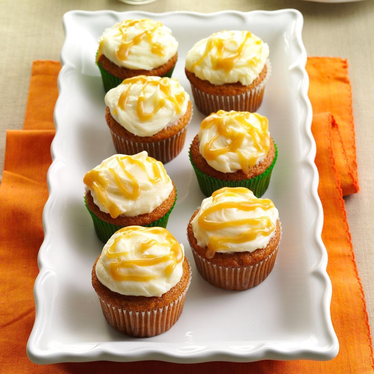 Autumn Pumpkin Cupcakes Recipe Taste Of Home