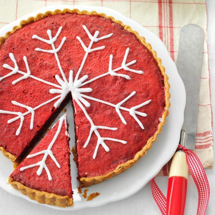 Day 25: Raspberry Red Bakewell Tart