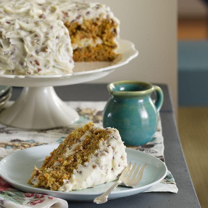 Carrot Cake with Pecan Frosting