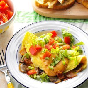 Bacon & Mushroom Omelets