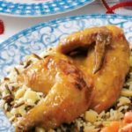 Glazed Cornish Hen with Rice Pilaf
