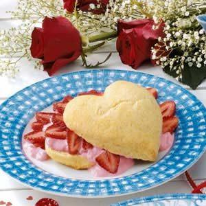 Valentine Strawberry Shortcake