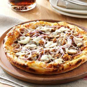 Herbed Sausage Pan Pizzas