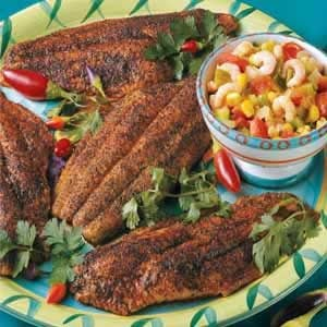 Catfish with Shrimp Salsa