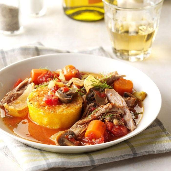 Italian-Style Turkey with Polenta