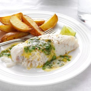 Haddock with Lime-Cilantro Butter