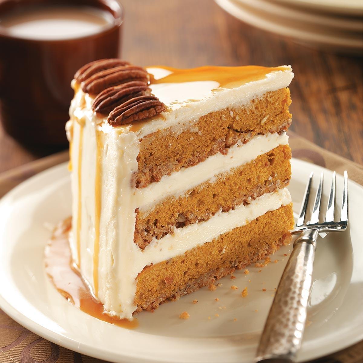Pumpkin-Pecan Spice Cake Recipe | Taste of Home