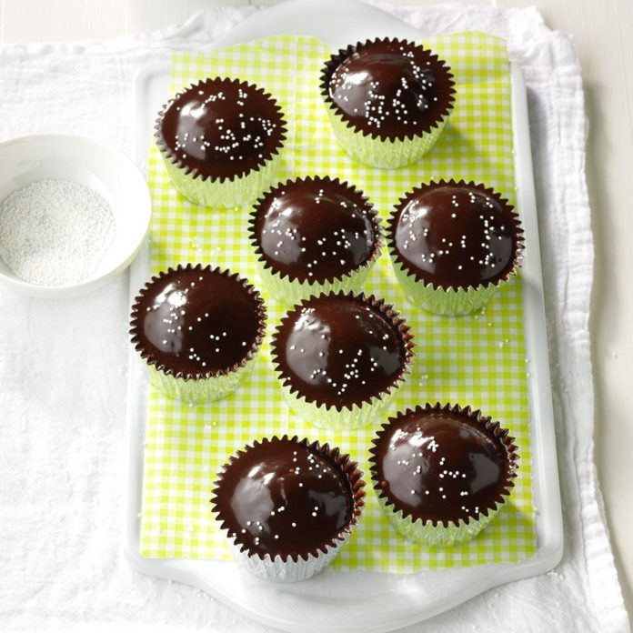 Chocolate-Glazed Cupcakes