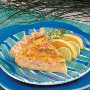 Cheddar Salmon Quiche