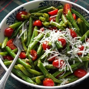 Roasted Italian Green Beans & Tomatoes