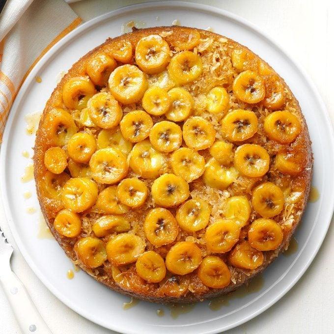 Banana Skillet Upside-Down Cake
