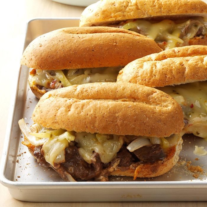 Tex-Mex Cheesesteak Sandwiches