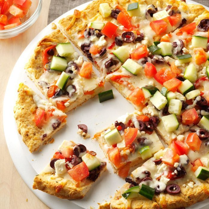 Turkey Gyro Pizza