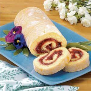Rhubarb Jelly-Roll Cake