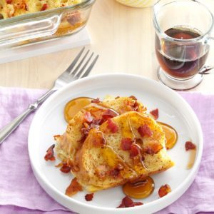 Maple Bacon French Toast Casserole