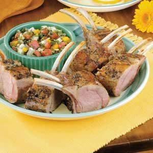 Lamb with Mint Salsa
