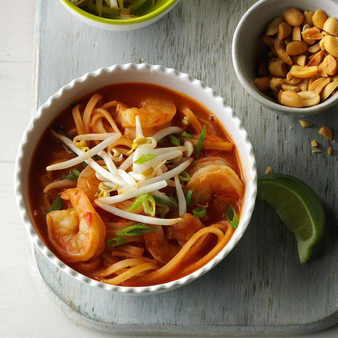 Shrimp Pad Thai Soup