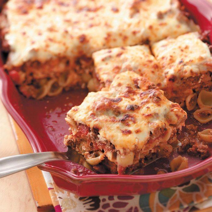 Cheesy Shell Lasagna
