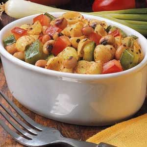 Black-Eyed-Pea and Pasta Salad