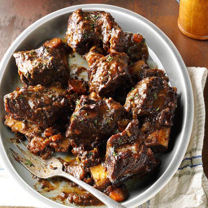 Beef Short Ribs in Burgundy Sauce