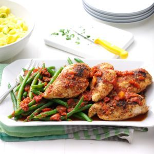 Chicken With Roasted Red Pepper Sauce Recipe Taste Of Home