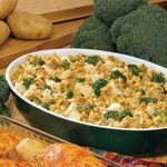 Stuffing-Topped Chicken and Broccoli