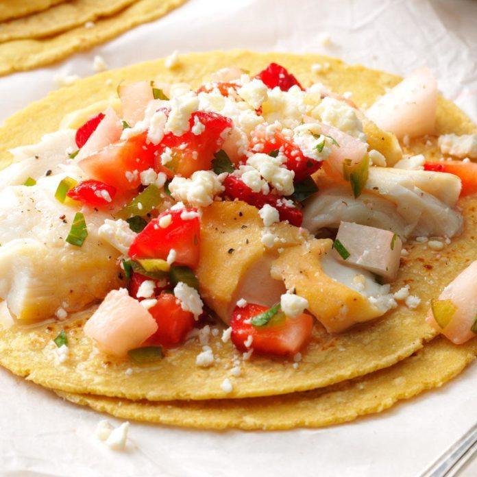 Fish Tacos with Berry Salsa