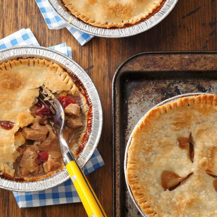 Day 1: Individual Pork & Cranberry Potpies