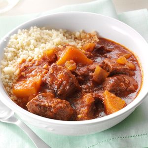 Moroccan Apple Beef Stew