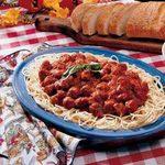 Spaghetti with Homemade Turkey Sausage