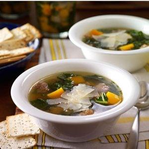 Turkey Sausage, Butternut Squash & Kale Soup