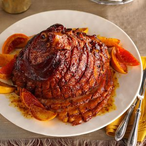 Citrus-Molasses Glazed Ham