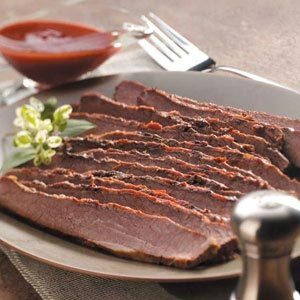 Slow-Cooked Barbecued Beef Brisket