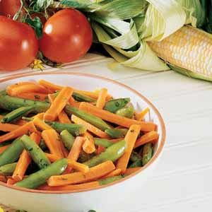 Peas and Carrots with Mint