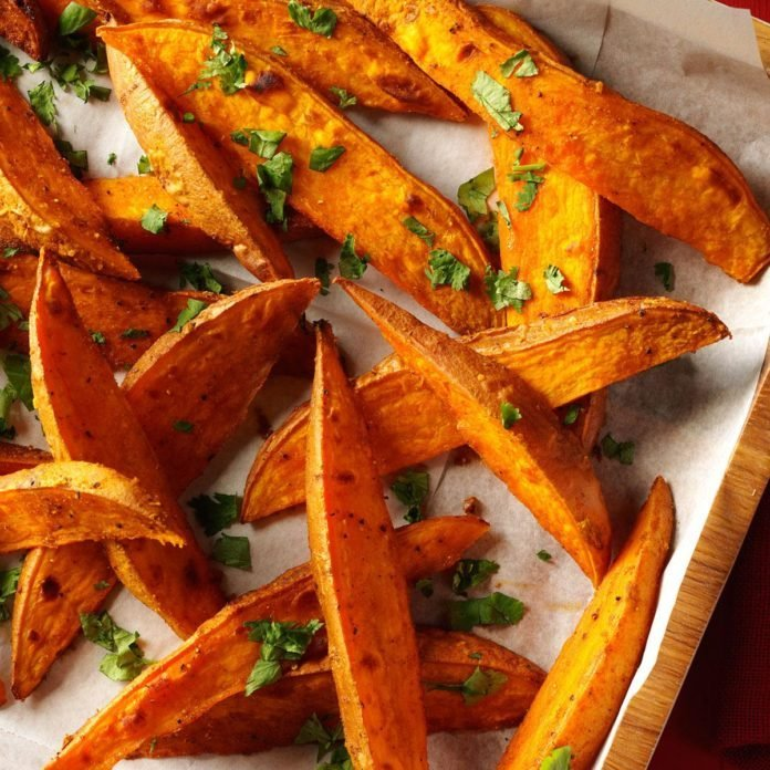 Curried Sweet Potato Wedges