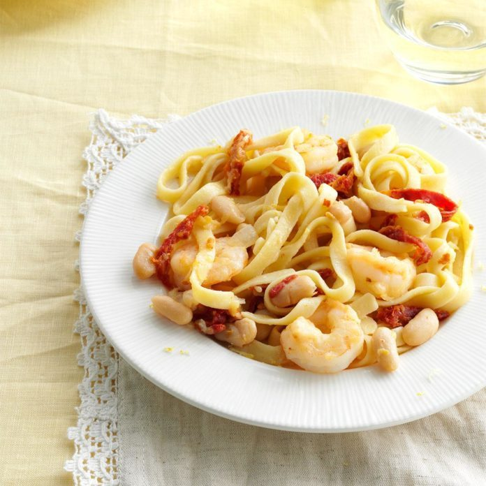 Lemon-Shrimp Fettuccine