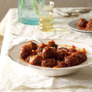 Baked Cranberry Meatballs