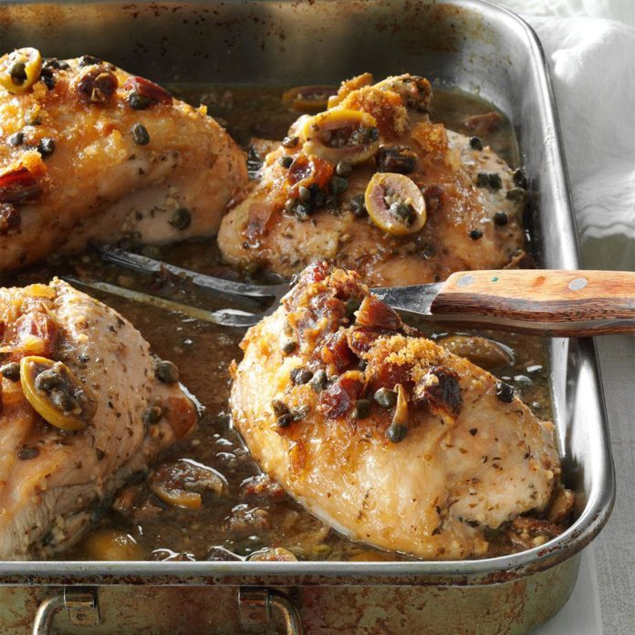 Spanish Marsala Turkey Breast