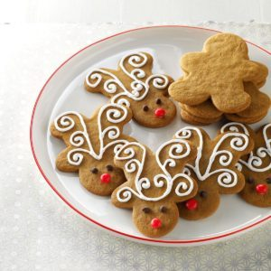Jolly Ginger Reindeer Cookies